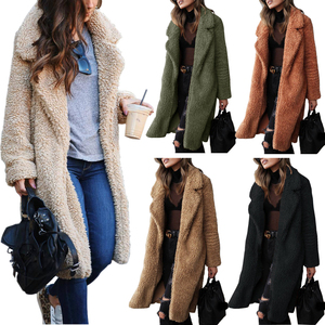 2020 Autumn Winter Faux Fur Coat Women Warm Teddy Bear Coat Ladies Fur Jacket Female Teddy Outwear Plush Overcoat Long Coat(China)