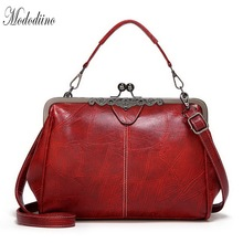 Mododiino Lady Purses And Handbag Women Bag Leisure Shoulder Clip PU Leather Female Crossbody DNV1153