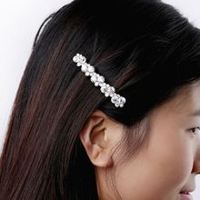 Popular Women Girl Crystal Hair Clip Hairpin Barrette Pearl Hair Accessories Hair Clips for Women ubuhle fashion women full pearl hair clip girls hair barrette hairpin hair elegant design sweet hair jewelry accessories 2019