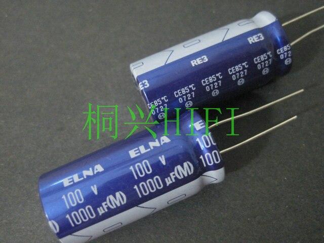 4pcs החדש ELNA RE3 100V1000UF 18X40MM אודיו קבל אלקטרוליטי 1000 uF/100 V כחול גלימה re3 1000UF 100V