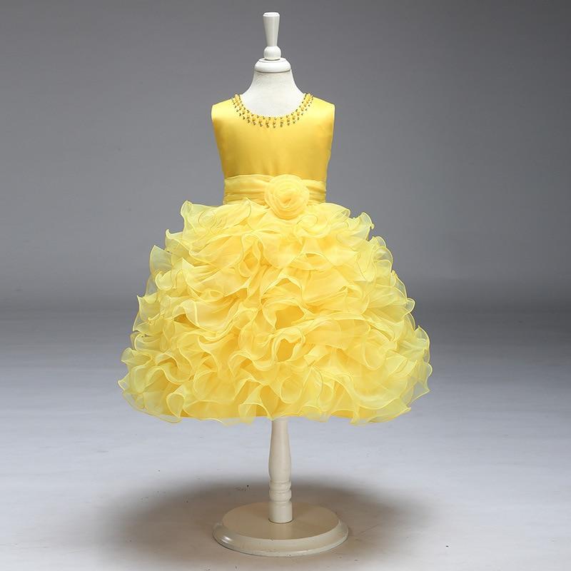 Europe And America Girls Children Dress CHILDREN'S Cake Puffy Princess Dress Fashion Flower Babydress