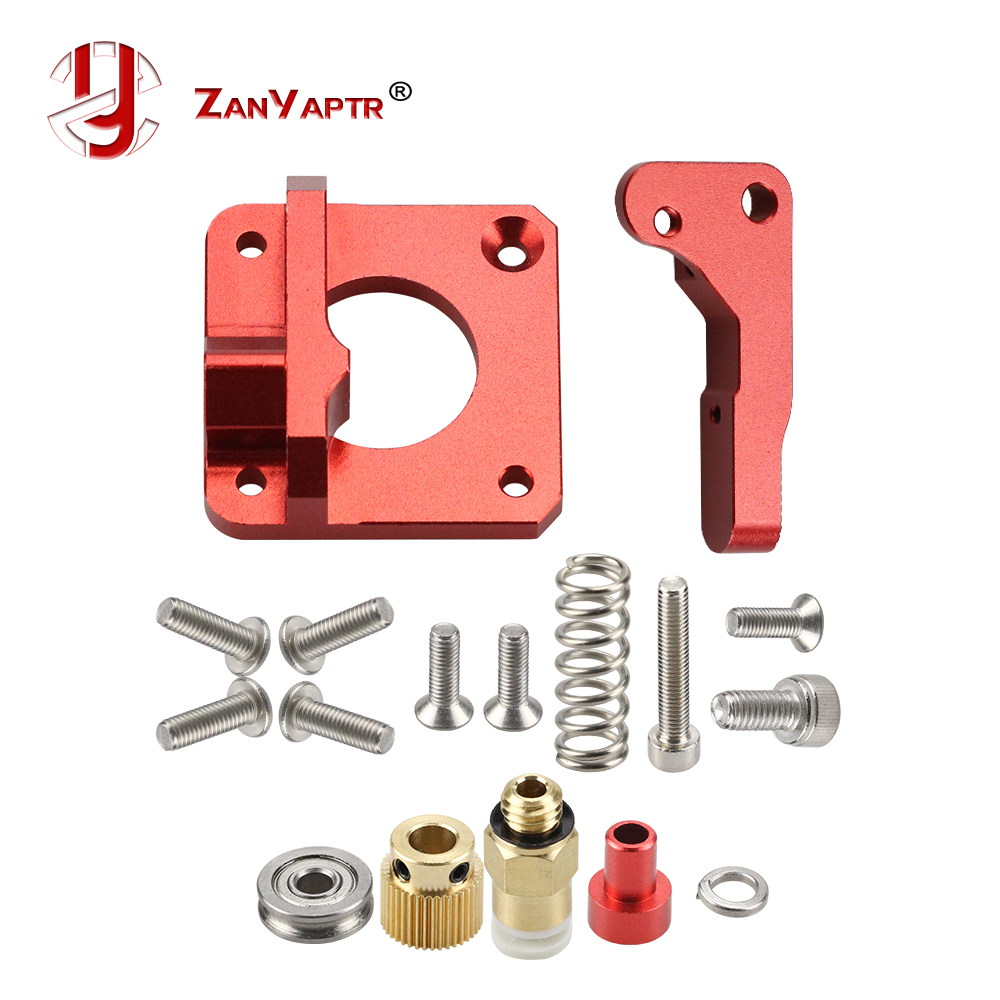 MK8 MK9 Red Extruder For 3D Printer Aluminum Block All Metal Bowden Exruder Kit Right Left Hand 1.75mm Filament CR-7 CR-10