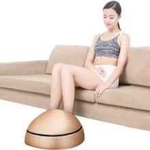 Massageador de pés elétrico, máquina de massagem de couro para costas e pés, infravermelho, com aquecimento, shiatsu