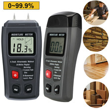 0-99.9% Two Pins Digital Wood Moisture Meter Wood Humidity Tester Hygrometer Timber Damp Detector Large LCD Display New стоимость