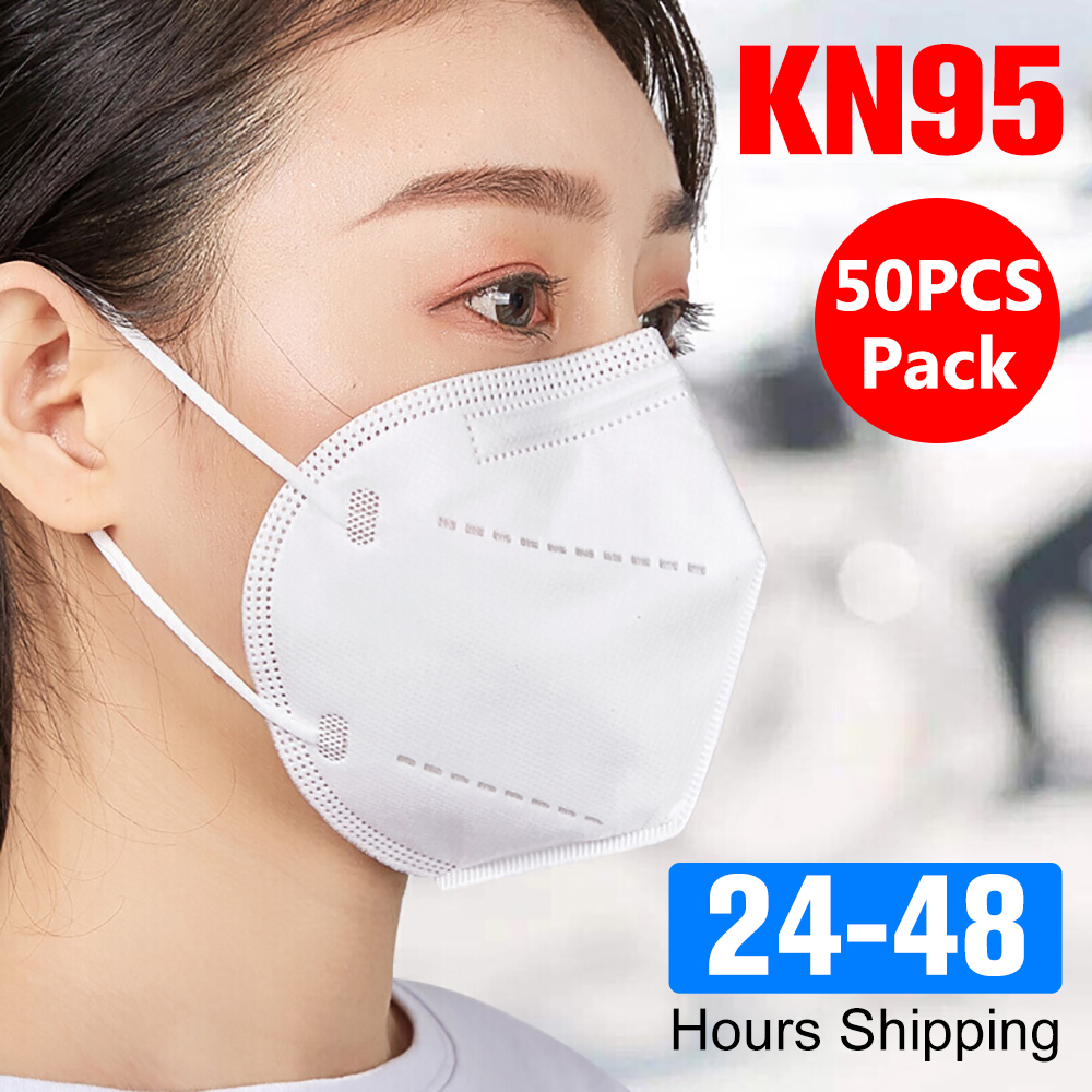 50pcs Protective Disposable Mouth Mask Face Protect KN95 Mask 4 Layers Non Woven Filter Dustproof Mouth Masks Fast Shipping