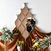 Water Drop Dressing Mirror Home Decoration Makeup Mirror Light Luxury Home Bedroom Decorative Mirror