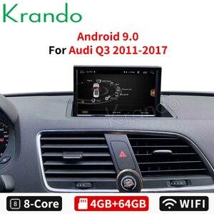 Автомобильный мультимедийный плеер Krando, Android 8,0, 8 ядер, 4 + 64 ГБ, радио, аудио, GPS-навигация, 4G, Wi-Fi, TB, для Audi Q3 2011, 2012, 2013-2017