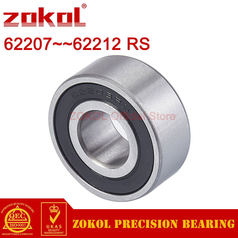 ZOKOL 62207 62208 62209 62210 62211 62212 RS 2RS Thickened bearings Deep Groove ball bearing
