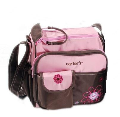 Heart Small Pink Diaper Bag Multi-functional Mommy Bag Large Capacity Shoulder Mother Infant Diaper Bag Environmentally Friendly