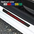 4 шт. наклейки на пороги автомобиля из углеродного волокна против царапин для Nissan X-TRAIL XTRAIL T30 T31 T32 2013-2019 аксессуары