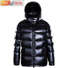 Winter Goose Hooded Thick Coat Puffer Jacket Men High Quality Men #8217 s Down Jackets 2020 M7YYFA001 B23116 cheap REGULAR M7YYF8001 Casual zipper Full Pockets NONE Thick (Winter) Broadcloth NYLON Grey goose down 250g-300g Solid men s winter down jacket