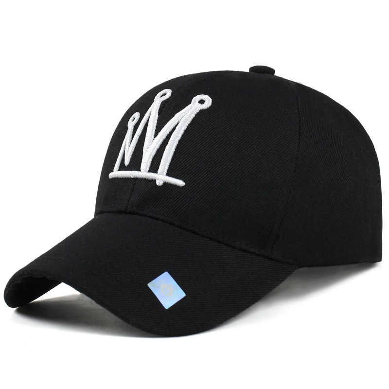Crowns Baseball Cap Sun Hat Sports Outdoor Black