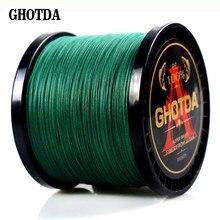 GHOTDA — Fil de pêche Multifilament, matériel de pêche, 8 brins, carpe 13-119 lb, 300m 500m et 1000m