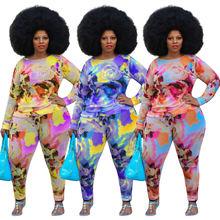 Chocomist размера плюс брюки из двух частей с цветочным принтом