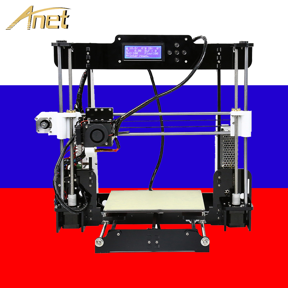 Anet A8 3D printer Kit DIY Prusa i3 RepRap with PLA/ABS plastic consumables 3D принтеро ship from Moscow warehouse in Po|3D Printers| |  - title=