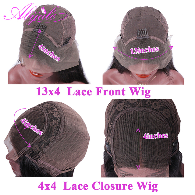 Abijale 13x4 Lace Front Human Hair Wigs Pre Plucked Straight Lace Front Wig 4x4 Lace Closure Wig Brazilian 360 Lace Frontal Wig 4