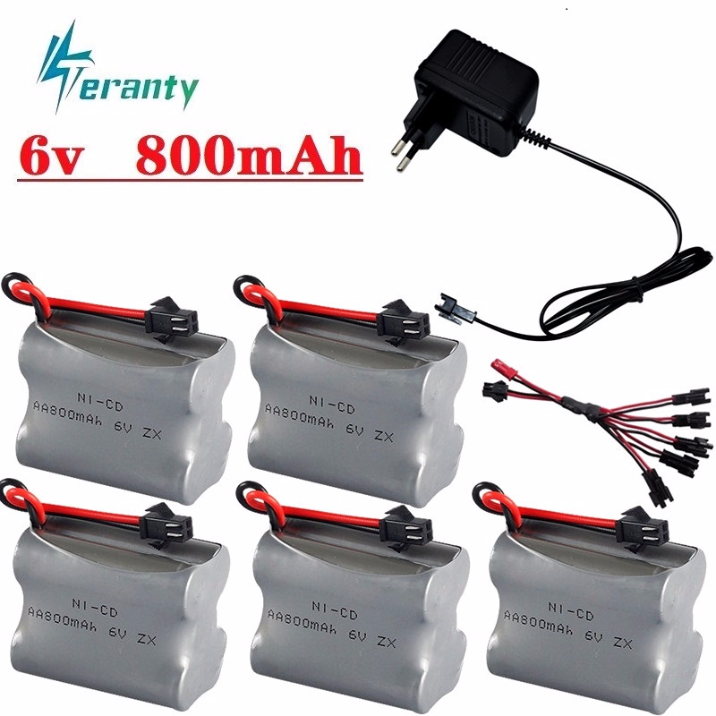 <font><b>6v</b></font> 800mah Battery and <font><b>6v</b></font> <font><b>USB</b></font> <font><b>Charger</b></font> For Rc Toys Cars Tanks RC Robots RC Boats HT 2877 3831 AA NiCD <font><b>6v</b></font> Rechargeable Battery Pack image