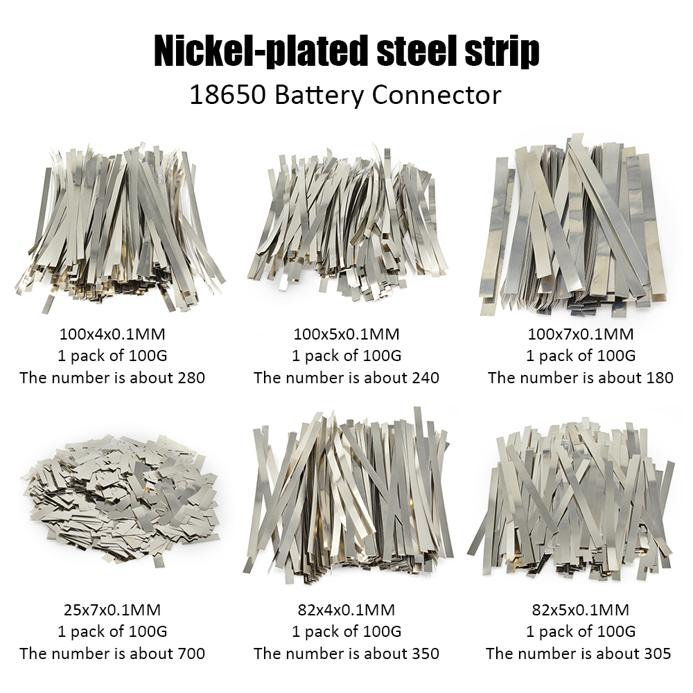 1Pack Nickel Plated Steel Strip Nickel Plate Strap Sheets For 18650 Lithium Battery Pack Spot Welding Machine Welder/Spot Welder