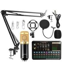 BM800 Mikrofon bluetooth Mixer V10X Pro Soundkarte Kondensator Spiel Audio dj Live Broadcast MIC USB OTG Aufnahme Professionelle