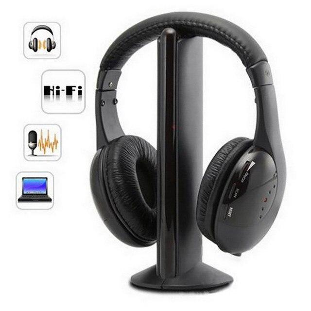 CARPRIE Wireless Earphones Wireless Bluetooth Headset Portable Cordless Headphone  with MIC for FM Radio PC Laptop TV FM MP3 1