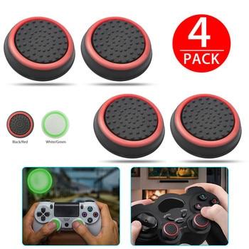 Xbox 360 One, Playstation 4 PS4 / PS3 Pro İncə gamepad qapağı joystick qapaqları üçün 4 ədəd silikon analog baş barmaq çubuq tutacaqları