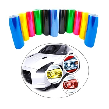 Car Light Film 30x60cm Car Tone Fashion Headlight Taillight Fog Vinyl Smoke Film Foil Sticker Covers All Cars Car Shape carcardo 40cm x 200cm car headlight taillight tint vinyl film sticker car smoke fog light viny stickers decals car styling