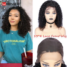 Wignee 13-peruca lace front de cabelo humano encaracolado, 13x4, cabelo humano, brasileiro com renda de alta densidade, para mulheres negras, 150%
