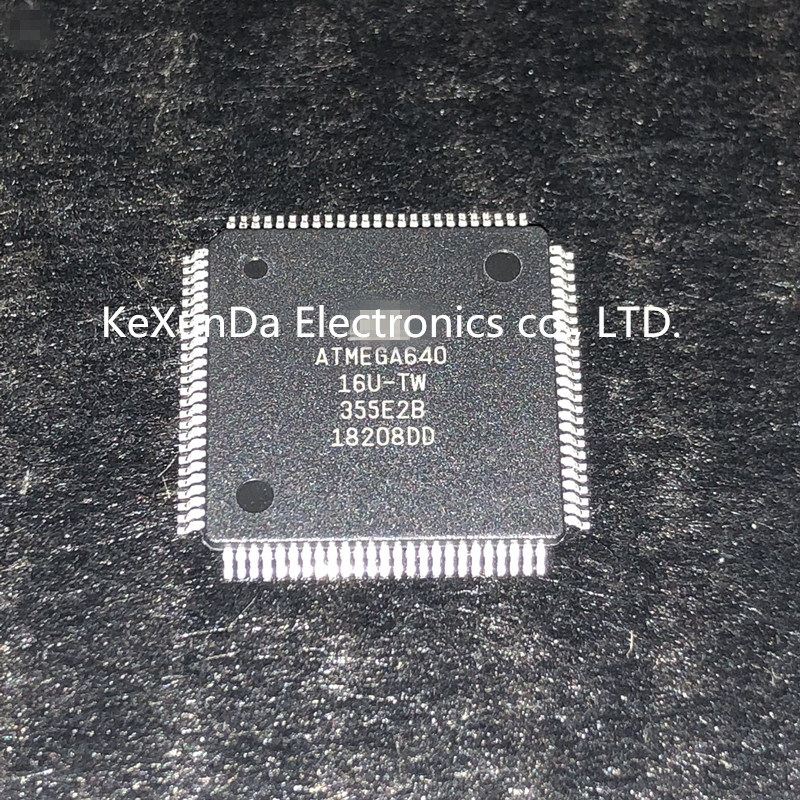 Original 10PCS/LOT ATMEGA640 16AU ATMEGA640 16U ATMEGA640 TQFP 100 IC MCU 8BIT 64KB FLASH NEWEST IN STOCK FREE SHIPPING-in Integrated Circuits from Electronic Components & Supplies