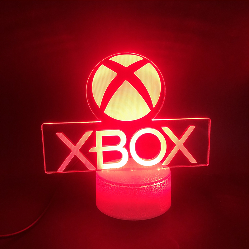 Smart Phone Control XBOX Home Game Best Present For Boy LED Night Light USB Directly Supply Cartoon Action Lamp Office Festival