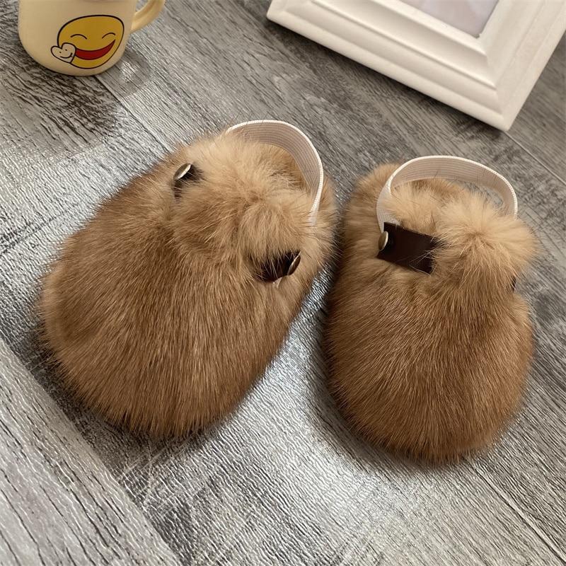 Baby Shoes Soft Mink Baby Shoes Super Cute Plush Comfort Shoes Prehobbler Baby Shoes