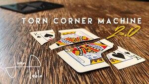 Рваная угловая машина 2,0 (TCM) от Хуана Пабло-трюк Трюк карты магия закрыть Волшебная улица Волшебная Иллюзия комедия маг проп