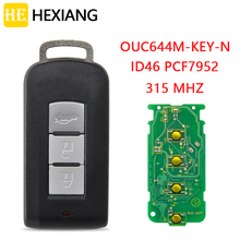 HE Xiang مفتاح السيارة عن بعد ، بطاقة 315 ميجا هرتز OUC644M ، لميتسوبيشي أوتلاندر لانسر سبورت باجيرو شوغون مونتيرو لانسر RVR ASX ID46