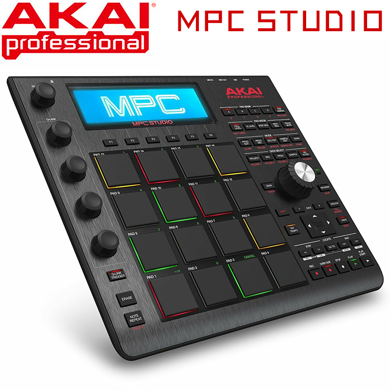 AKAI Professional MPC Studio Slimline Music Production Controller MIDI Connector - Black