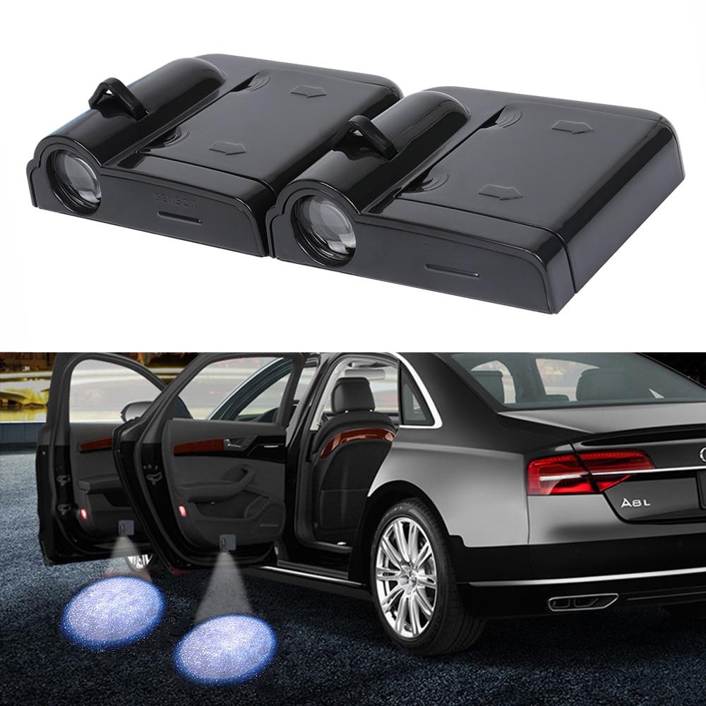 >2pcs Car Door Welcome LED Projector Laser Logo Light For Ford Focus 2 <font><b>3</b></font> 1 Fiesta Mondeo 4 <font><b>3</b></font> <font><b>Transit</b></font> <font><b>Fusion</b></font> Kuga Ranger Mustang