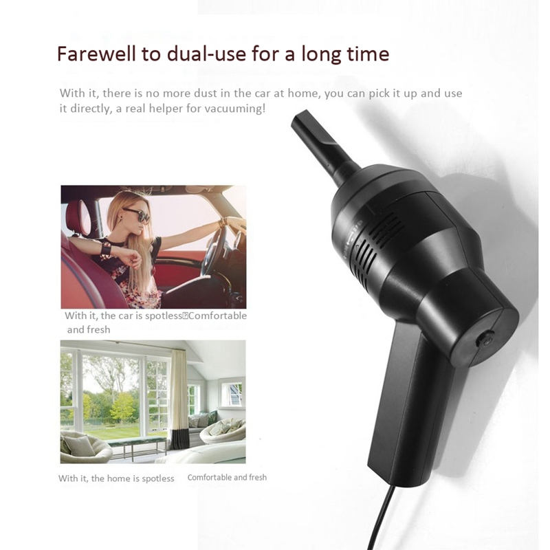 Wireless Air Duster USB Mini Vacuum Cleaner Mini Cleaner Keyboard Brush Tools