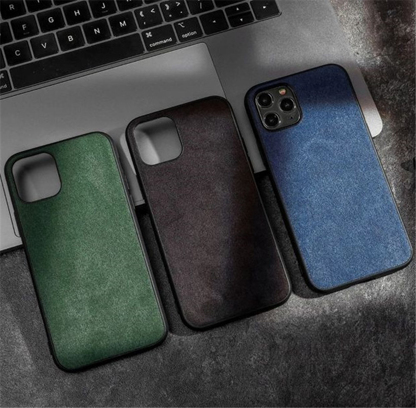 Alcantara Leather Back Cover For iPhone 11 11 Pro Max Case Luxury Artificial Phone Case For iPhone SE Xs Max XR 7 8 6S Plus X