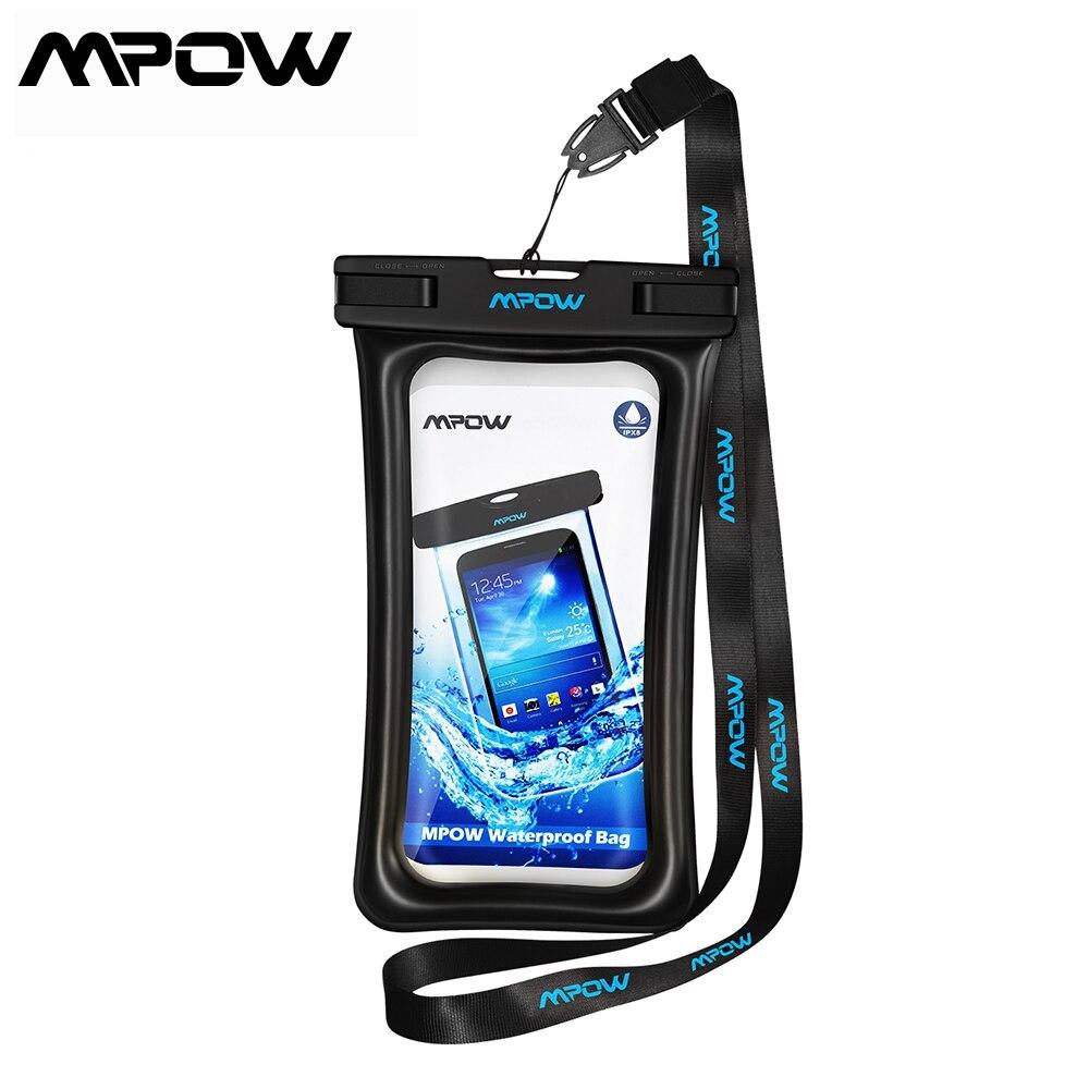 1 pçs mpow ipx8 à prova dfloágua caso saco à prova duniversal água universal 6.5 underwater subaquática bolsa de telefone para iphone samsung huawei celular saco seco