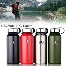 Large Capacity Stainless Seel Thermos Flask Outdoor Portable Sports Vacuum Water Bottle With Handle