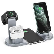 Bezprzewodowa ładowarka do telefonu komórkowego do apple huawei xiaomi samsung stacja ładująca 3 w 1 zestaw słuchawkowy do zegarków 10w szybkie ładowanie tanie tanio CARP TALE CN (pochodzenie) Z wskaźnik ładowania Z kablem Z uchwytem Typ C Za pomocą kabla USB Apple iphone CE FCC ROHS