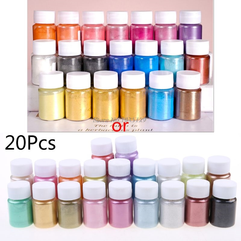 20 Pearlescent powder Epoxy Resin Dye Pearl Pigment Natural Mica Mineral Powder G29 Dropship 1