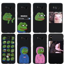 Funny Pepe the Frog Pig Couple Phone Case For Samsung S7 Edge S8 S9 Plus Soft TPU Silicone Cover iphone 7 8 6S xr xs max