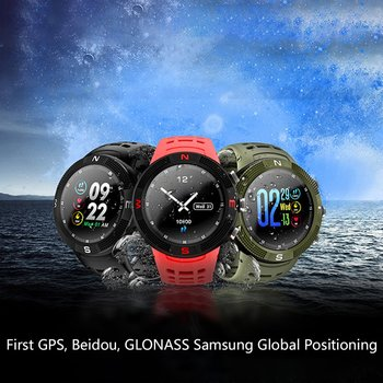 Smartwatch F18 Color Screen Sports Bluetooth Waterproof Call Message Reminder Pedometer Sleep Monitoring GPS Smart Watch