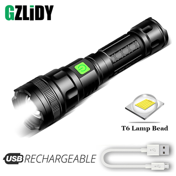Portable T6 LED Flashlight Waterproof Tactical Torch USB Rechargeable Telescopic Zoom Camping Lamp Super Bright 18650 Lantern rechargeable super bright mini flashlight zoom xml t6 lantern led zaklamp torch flashlight lampe torche hand lamp strong magnet