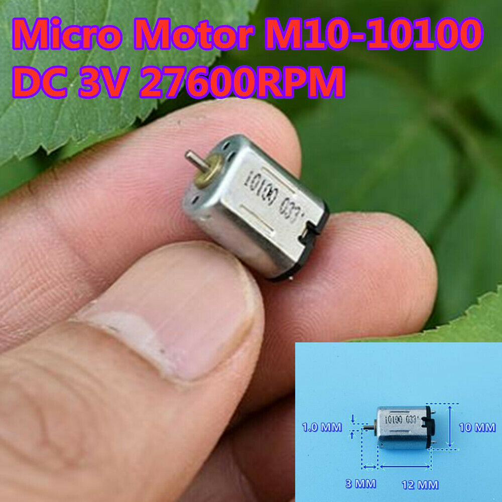 5PCS N20 DC 3V 27600RPM Micro Model airplane motor High Speed High Magneto Gliders Motor image