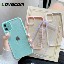 Glitter Transparent Phone Case For iPhone 12 11 Pro Max X XR XS Max 7 8 Plus SE Satrs Shining Clear Soft TPU Shockproof Cover