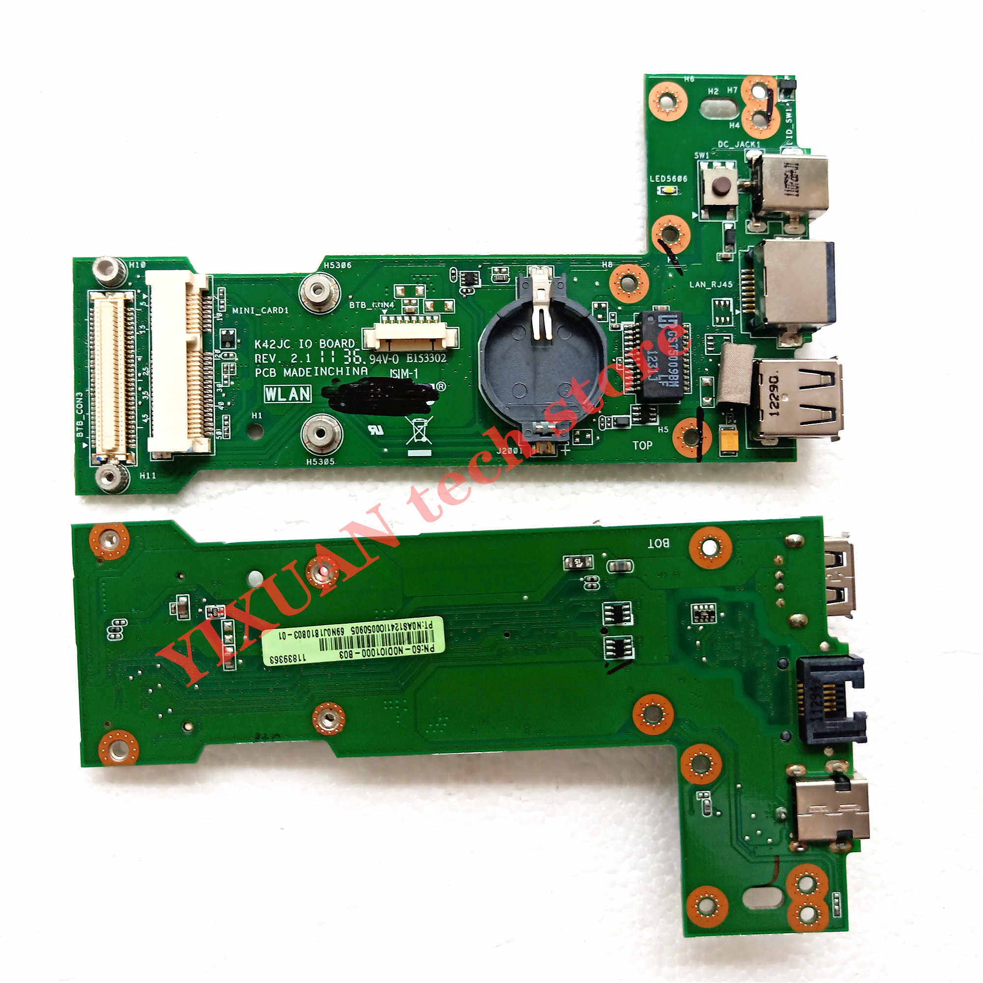 Brand new K42JC REV: 2.1 IO BOARD Per Asus K42J X42J A42J A40J K42JC K42JR K42JZ K42JY K42JV X42D K42D K42F POWER BOARD USB
