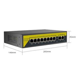 Image 5 - Hiseeu 48v 8/16ポートpoeスイッチイーサネット10/100mbpsのieee 802.3 af/ipカメラで/cctvセキュリティカメラシステム/ワイヤレスapフィート