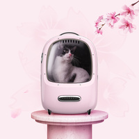Petkit Portable Cat Carrier Backpack Travel Space Capsule for Cat and Small Dog Ventilated Pet Carrier with Inbuilt Fan Light