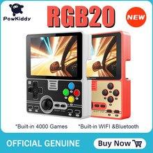 Портативная игровая консоль Powkiddy RGB20, 4000 встроенных игр, 3,5 дюймов, IPS экран, RK3326, аккумулятор 3000 мАч, 2021