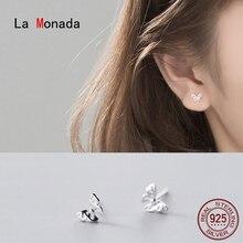 Stud-Earrings Butterfly Jewelry 925-Minimalist 925-Sterling-Silver Women La Monada